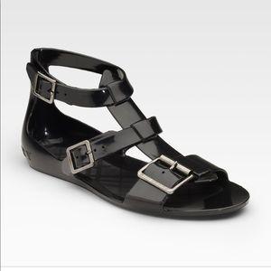 BNWT Black Burberry jelly sandal